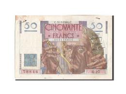 Billet, France, 50 Francs, 50 F 1946-1951 ''Le Verrier'', 1946, 1946-05-31, TTB - 1871-1952 Circulated During XXth
