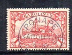 XP4378 - ISOLE CAROLINE 1900, 1 Mk  Usato  N. 16 (20/2380A) - Colonie: Carolines