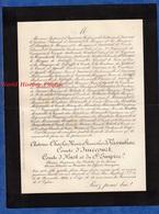 Document De 1894 - Antoine Charles Marie Stanislas De VASSINHAC Comte D'IMECOURT , D' HUST Et Du SAINT EMPIRE - Documents