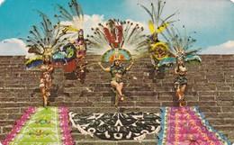 DANZANTES AZTECAS, TENOCHTITLAN MEXICO DF. MMEX ASOCIADOS. CIRCULEE 1976 TIMBRE ARRACHE - BLEUP - Mexique