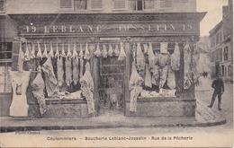 77 COULOMMIERS - Devanture Gros Plan Boucherie LEBLANC-JOSSELIN - Rue De La Pêcherie - Coulommiers