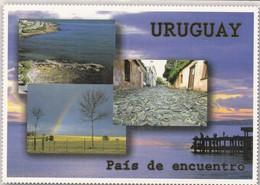 URUGUAY, PAIS DE ENCUENTRO, MULTI VISTA. MINISTERIO DE TURISMO. FRANQUEO MECANICO CIRCULADO 1999 A BSAS - BLEUP - Uruguay