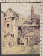 PL117/ Léon LE CLERC, *Honfleur, Ancienne Hôtellerie De La Couronne* - Pittura & Quadri