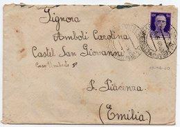 GREECE/ITALIAN OCCUPATION - COVER TO ITALY / RARE CANCEL LERO PORTOLAGO TELEGRAFO 10.6.40 / CENSORED - 1900-44 Vittorio Emanuele III