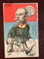 1 CP Illustrateur - Mille - Pierre Assassinats .... De Serbie  .... - Satirique Politique - Colorisée - Mille