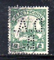 XP4386 - KIAO TCHEOU 1905, 2 Cents  Yvert N. 25 Usato  Losanghe . PERFIN (5/2380A) - Colonie: Kiautchou