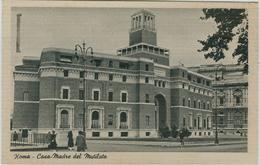 """ROMA - CASA MADRE DEL MUTILATO,B/N,ANIMATA,POSTE ROMA TARGHETTA""""TRIENNALE......."""",PER VERONA - Salute, Ospedali"""