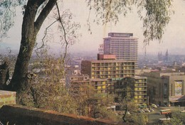 SANTIAGO. PANORAMA DESDE EL CERRO SANTA LUCIA. FRANQUEO MECANICO CIRCULADO A BOLIVIA 1975 - BLEUP - Chili