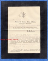 Document Ancien De 1889 - LE DEAU Par BLACé (Rhône) - Monsieur Le Général Félix ISNARD - Documents