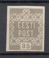 ESTLAND ESTONIA 1918/1919 Michel 3 D Olivgrau Olive Gray * - Estland