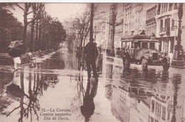 LA CORUÑA. CANTON PEQUEÑO. DIA DE LLUVIA. EXPENDURIA DE TABACOS A SANCHEZ. KALLMEYERS U GAUTIER. CIRCA 1920s TBE - BLEUP - La Coruña