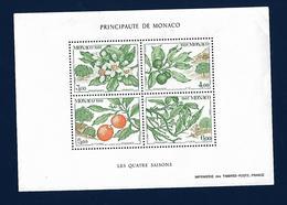 MONACO Les Quatre Saisons Oranger - Blocks & Sheetlets