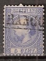 1867 Koning Willem III 5 Ct.  7-IIa (Type II Tanding A: 12.75x11.75) - Usados