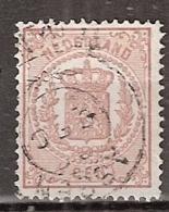 1869 Rijkswapen 1/2 Ct.  NVPH 13 Stempel: ASSEN FRANCO Met Takje - Gebruikt