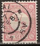1894 Cijfer 1/2 Ct.  NVPH 30b  Cancelled, Gestempeld - Gebruikt