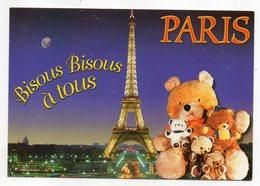 PARIS 7° --Tour Eiffel  (Bisous à Tous) --ours En Peluche  .......à Saisir - Arrondissement: 07