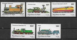 REPUBBLICA DI NIGERIA 1980 LOCOMOTIVE YVERT. 510-514 USATA VF - Nigeria (1961-...)