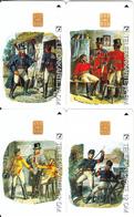 GERMANY - Set Of 4 Cards, Postillione(E 17-18-19-20), Tirage 30000, 09/95, Used - Deutschland