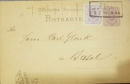 O) 1886 GERMANY -ZELL, CROWN OF ST STEPHE 5p, POSTAL STATIONERY, XF - Germany