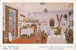 LA BARRACA. COMEDOR TIPICO ESPAÑOL. LA BARRACA, MADRID CIRCULADO CIRCA 1930s - BLEUP - Pubblicitari