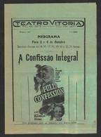 Macau Macao China Vitoria Movie Theater 1940 Program Full Confession Road To Singapore Bing Crosby Bob Hope - Programmes