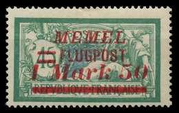 MEMEL 1922 Nr 101 Ungebraucht X886602 - Memelgebiet
