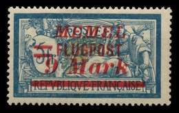 MEMEL 1922 Nr 107 Ungebraucht X886606 - Memelgebiet