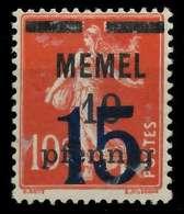 MEMEL 1921 Nr 34 Ungebraucht X8876AA - Memelgebiet