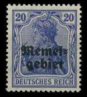 MEMEL 1920 GERMANIA Nr 4 Postfrisch X8876B6 - Memelgebiet