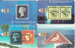 GERMANY - Set Of 4 Cards, Stamps, Briefmarken(E 01-02-03-04), Tirage 30000, 08/91, Used - Télécartes