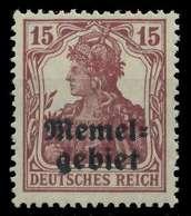 MEMEL 1920 GERMANIA Nr 3xa Postfrisch Gepr. X8876BE - Memelgebiet
