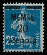 MEMEL 1920 Nr 20b Postfrisch Gepr. X8876C6 - Memelgebiet