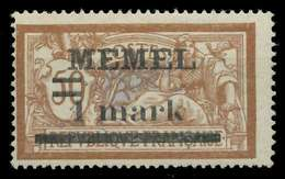 MEMEL 1920 Nr 26y Postfrisch X8876D2 - Memelgebiet