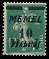 MEMEL 1922 Nr 108 Postfrisch X887742 - Memelgebiet