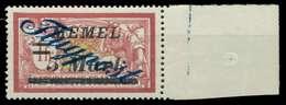 MEMEL 1922 Nr 81 Postfrisch X887752 - Memelgebiet