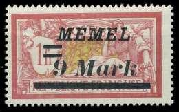 MEMEL 1922 Nr 93 Postfrisch X88777E - Memelgebiet