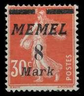 MEMEL 1922 Nr 112 Ungebraucht X887782 - Memelgebiet