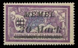 MEMEL 1922 Nr 115 Postfrisch X88778E - Memelgebiet