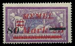 MEMEL 1922 Nr 120 Postfrisch X88779A - Memelgebiet