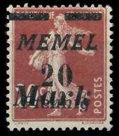 MEMEL 1922 Nr 109 Ungebraucht X8877D6 - Memelgebiet