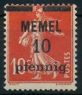 MEMEL 1920 Nr 19y Ungebraucht X8877DE - Memelgebiet
