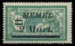 MEMEL 1922 Nr 88 Ungebraucht X8877E6 - Memelgebiet