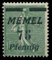 MEMEL 1922 Nr 85 Ungebraucht X8877EE - Memelgebiet