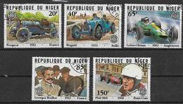 REPUBBLICA DI NIGERIA 1981 GRAN PREMIO DELL'AUTOMOBILE CLUB DI FRANCIA YVERT. 555-559 USATA VF - Nigeria (1961-...)