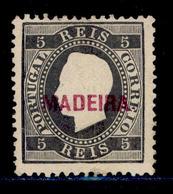 ! ! Madeira - 1871 King Luis 5r (Perf. 12 1/2) - Af. 14 - No Gum - Madeira