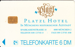 GERMANY - Platzl Hotel 2(K 118), Tirage 3000, 04/93, Used - Alemania