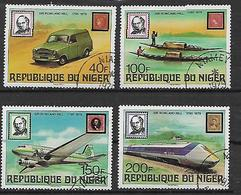 REPUBBLICA DI NIGERIA 1979 ANNIVERSARIO DELLA MORTE DI SIR ROWLAND HILL YVERT. 477-480 USATA VF - Nigeria (1961-...)