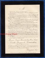 Document Ancien De 1895 - PORNIC - Jacques Alexandre Louis Henri LAW Comte Jacques De LAURISTON Officier - Documents