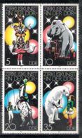 1295  Elefants - Circus -  DDR 2034-37 MNH - 3,25 - Eléphants