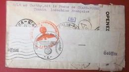 1941-WW2 LETTRE CENSURE ALLEMANDE CHAMPUNG--TONKIN/VICHY(France-ex-Colonie Protectorat)Indochine(1889-45)Lettre-Document - Indochine (1889-1945)